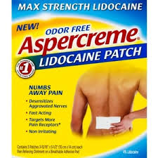 Lidocaine patch